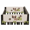 Forest Friends Baby Crib Side Rail Guard Covers by Sweet Jojo Designs - Set of 2