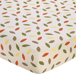 Forest Friends Fitted Crib Sheet for Baby/Toddler Bedding Sets - Mini Leaf Print