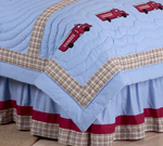 Frankie's Firetruck Queen Bed Skirt by Sweet Jojo Designs