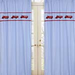 Frankie's Firetruck Window Treatment Panels - Set of 2