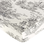 French Black Toile Fitted Crib Sheet for Baby and Toddler Bedding�Sets by Sweet Jojo Designs - Toile Print