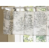 French Toile Black Window Valance