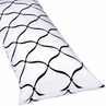 Full Length Double Zippered Body Pillow Cover for Pink, Black and White Princess Bedding Set