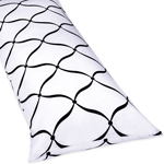 Full Length Double Zippered Body Pillow Cover for Purple, Black and White Princess Bedding Set