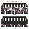 Funky Zebra Baby Crib Long Rail Guard Cover by Sweet Jojo Designs