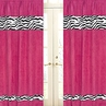 Funky Zebra Window Treatment Panels - Set of 2