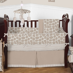 Giraffe Neutral Baby Bedding - 9 pc Crib Set by Sweet Jojo Designs