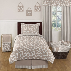 Giraffe Neutral Kids Bedding - 4 pc Twin Set by Sweet Jojo Designs