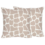 Giraffe Print Decorative Accent Throw Pillows by Sweet Jojo Designs - Set of 2