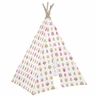 Girls Pink Happy Owl Indoor TeePee for Toddler and Kids