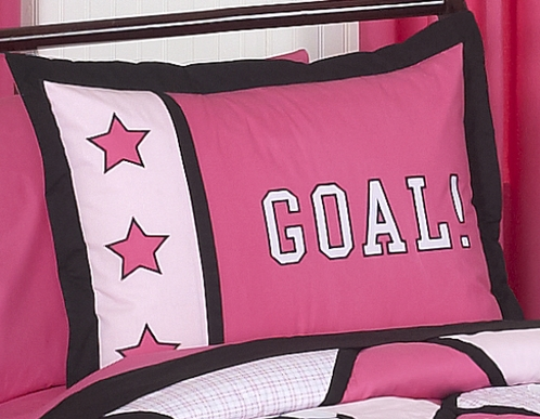 Girls Soccer Pillow Sham - Click to enlarge