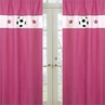 Girls Soccer Window Treatment Panels - Set of 2