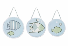 Go Fish Ocean Fishing Wall Hangings by Sweet Jojo Designs