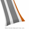 Gray and Orange Stripe Full Length Double Zippered Body Pillow Case Cover