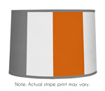 Gray and Orange Stripe Lamp Shade by Sweet Jojo Designs