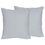 Gray Decorative Accent Throw Pillows for Chevron Collection - Set of 2