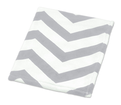 Gray and White Chevron Plush Fleece Unisex Baby Crib Blanket by Sweet Jojo Designs