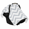 Gray and White Chevron Zig Zag Baby Infant Car Seat Carrier Stroller Cover by Sweet Jojo Designs