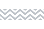 Gray and White Chevron Zig Zag Kids and Baby Modern Wall Paper Border