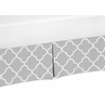 Gray and White Crib Bed Skirt for Trellis�Baby Bedding Sets by Sweet Jojo Designs