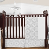Gray and White Diamond Baby Bedding - 11pc Crib Set by Sweet Jojo Designs