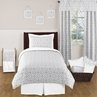 Gray and White Diamond Childrens and Kids Bedding - 4pc Twin Set by Sweet Jojo Designs