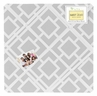 Gray and White Diamond Fabric Memory/Memo Photo Bulletin Board by Sweet Jojo Designs