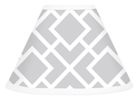 Gray and White Diamond Lamp Shade by Sweet Jojo Designs