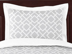 Gray and White Diamond Pillow Sham by Sweet Jojo Designs