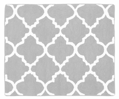 Gray and White Trellis Accent Floor Rug by Sweet Jojo Designs