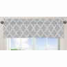 Gray and White Trellis�Collection Window Valance by Sweet Jojo Designs