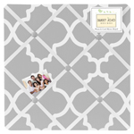 JoJo Designs Gray and White Trellis Fabric Memory/Memo Ph...