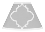 Gray and White Trellis Lamp Shade by Sweet Jojo Designs