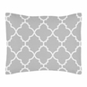 Gray and White Trellis Pillow Sham by Sweet Jojo Designs