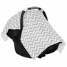 Gray and White Zig Zag Chevron Baby Infant Car Seat Carrier Stroller Cover by Sweet Jojo Designs