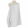 Gray and White Zig Zag Chevron Infant Baby Breastfeeding Nursing Cover Up Apron by Sweet Jojo Designs
