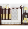 Gray and Yellow Chevron Zig Zag Baby Bedding - 11pc Crib Set by Sweet Jojo Designs