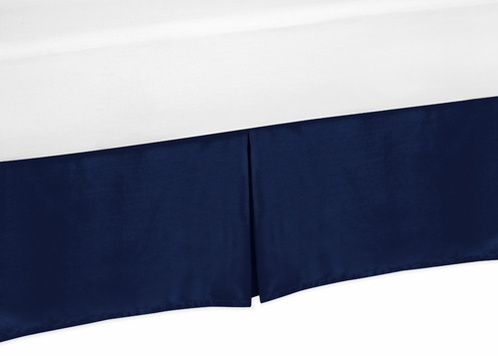 navy bed skirt for navy blue and gray stripe bedding