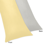 Yellow and Gray Honey Bee Full Length Double Zippered Body Pillow Case Cover