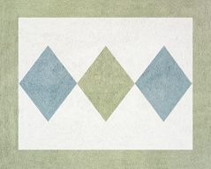 Green and Blue Argyle Accent Floor Rug