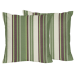 Green and Brown Ethan Decorative Accent Throw Pillows by Sweet Jojo Designs - Set of 2