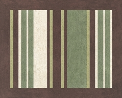 Green and Brown Ethan Modern Accent Floor Rug