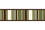 Green and Brown Ethan Modern Baby and Kids Wall Border by Sweet Jojo Designs