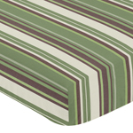 Green and Brown Ethan Modern Fitted Crib Sheet for Baby and Toddler Bedding Sets - Stripe Print