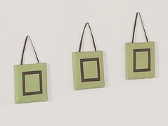 Green and Brown Hotel Wall Hanging Accessories by Sweet Jojo Designs