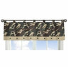 Green Camo Army Camouflage Window Valance by Sweet Jojo Designs