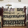 Green Camo Baby Bedding - 9pc Crib Set