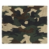 Green Camo Military Accent Floor Rug
