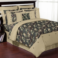 Green Camo Teen Bedding - 3pc Full / Queen Set