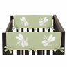 Green Dragonfly Dreams Baby Crib Side Rail Guard Covers by Sweet Jojo Designs - Set of 2